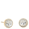 Snö Of Sweden Lissy Stone Earring Gold/Clear 11mm