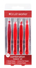 Brush Works HD Combination Tweezer Set - Red