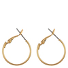 Snö Of Sweden Mystic Small Ring Earring Plain Gold 20mm