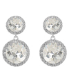 Snö Of Sweden Lissy Pendant Earring Silver/Clear 11/16mm