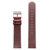 Felix B Leather Strap - Red/Silver