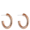 Snö of Sweden Adara Small Oval Earring Rosé/Clear 18mm