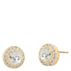 Snö Of Sweden Lissy Small Stone Earring Gold/Clear 9mm