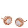 Snö Of Sweden Lou Round Stone Earring Rosé/Clear 9mm