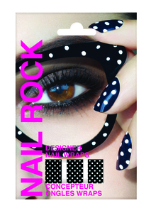 Rock Beauty Nail Rock - White Dots on Black (ROC0010)