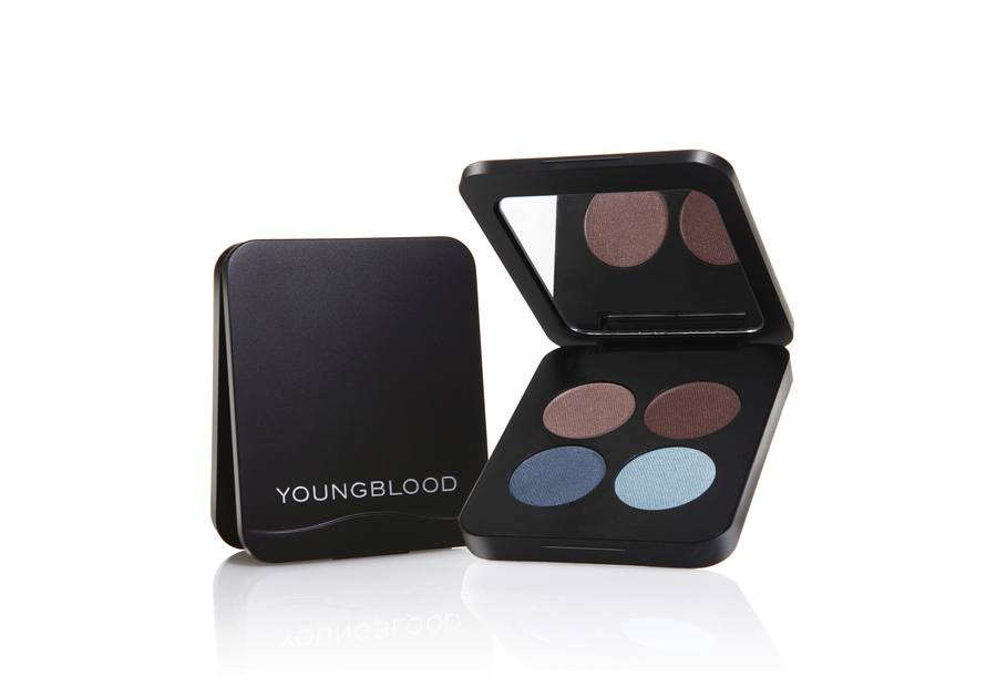 Youngblood Pressed Mineral Eyeshadow Quad Glamour Eyes 4g