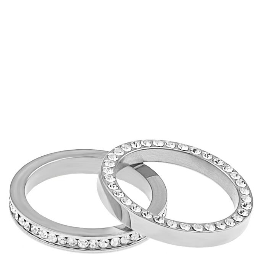 Snö Of Sweden Trixie Ring Double Silver/Clear M 17,5mm