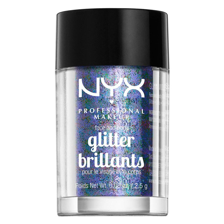 NYX Professional Makeup Face And Body Glitter Brilliants Violet