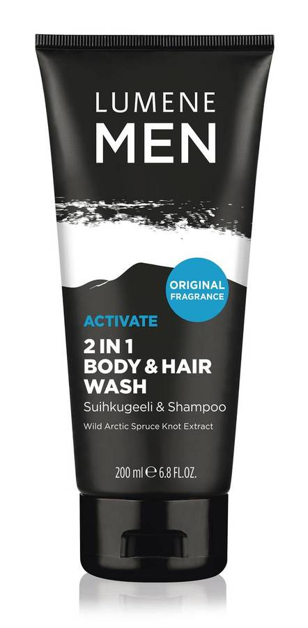 Lumene Men Activate 2in1 Body & Hair Wash 200ml