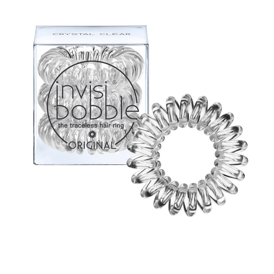 Invisibobble 3 Traceless Hair Rings Crystal Clear
