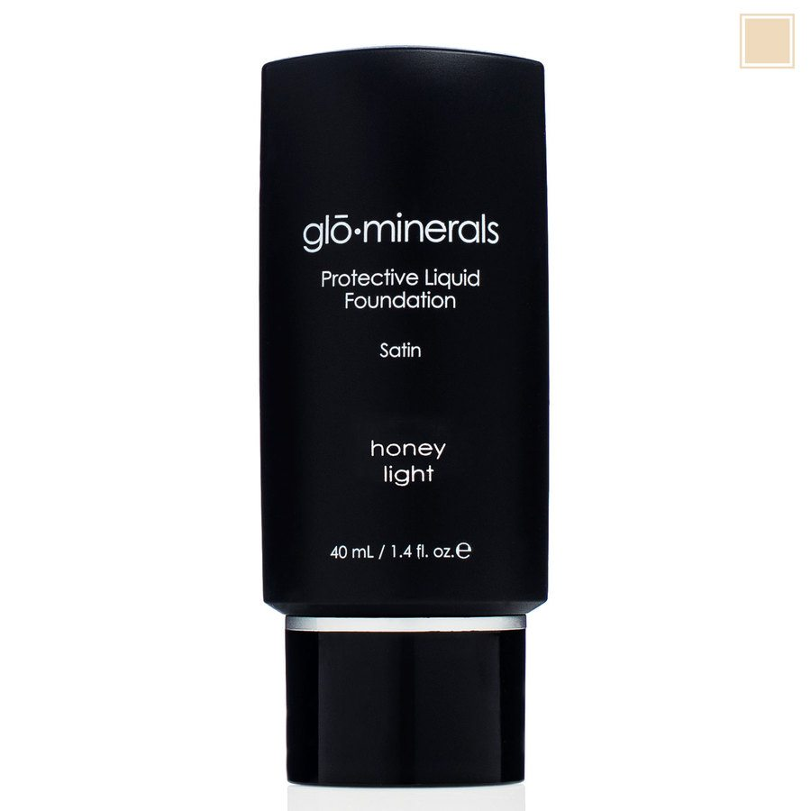 glóMinerals Protective Liquid Foundation Satin II Honey Light 40m