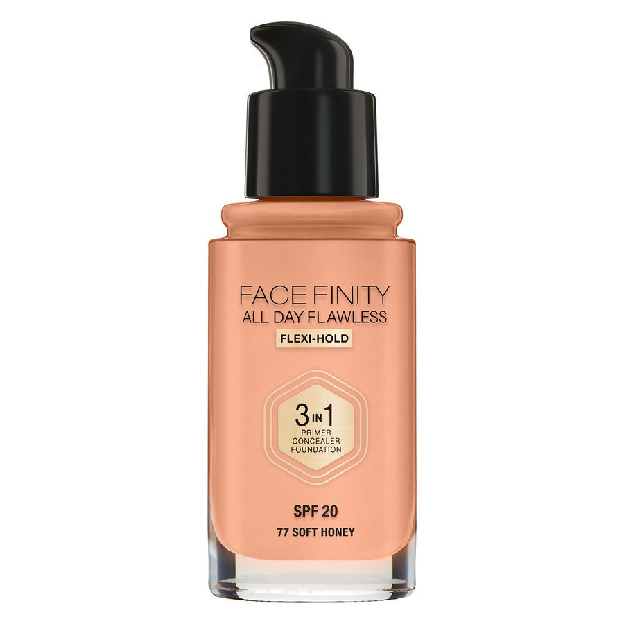 Max Factor Facefinity 3 In 1 Foundation 77 Soft Honey 30ml