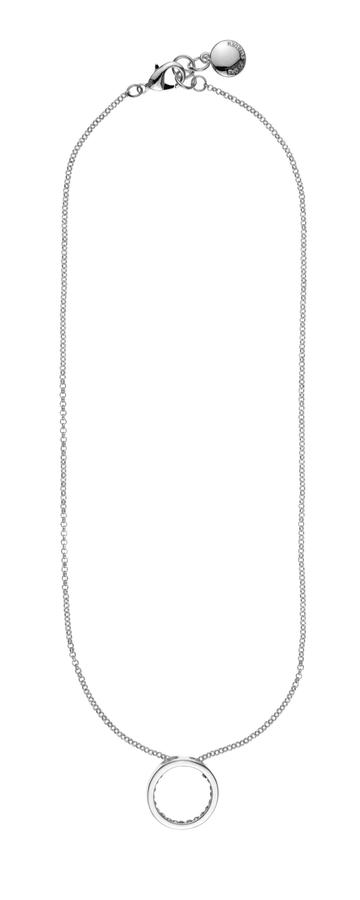 Snö Of Sweden Riva Pendant Necklace Silver/Clear 45cm