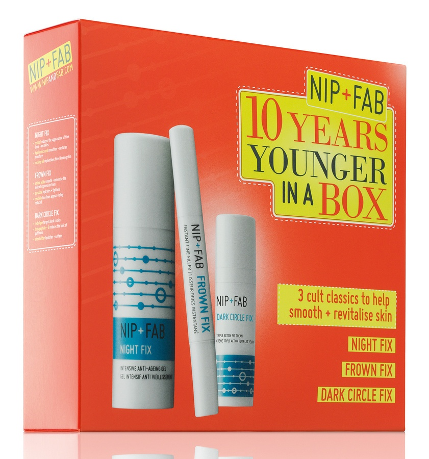 NIP+FAB 10 Years Younger In A Box Set 3 pcs