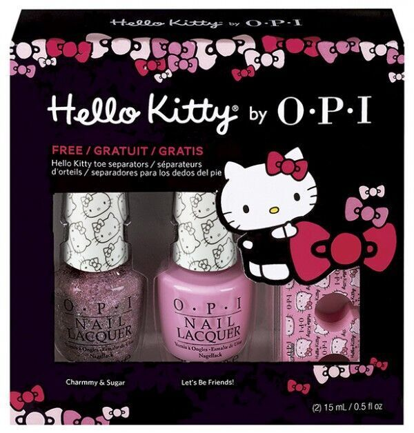 OPI Hello Kitty Collection Duo Og Tåseperator 2 x 15ml