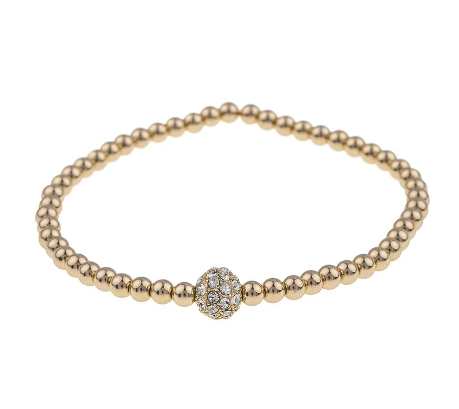 Snö Of Sweden Mysk Small Elastic Bracelet Gold/Clear S/M