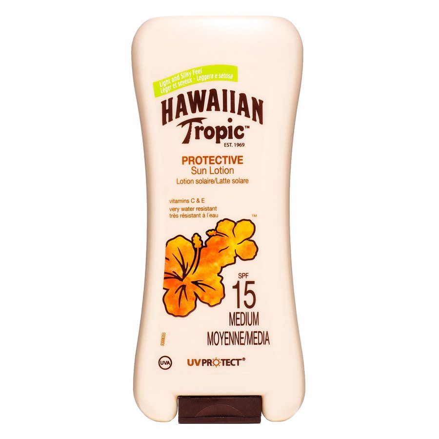 Hawaiian Satin Protection Sun Lotion SPF 15 180 ml