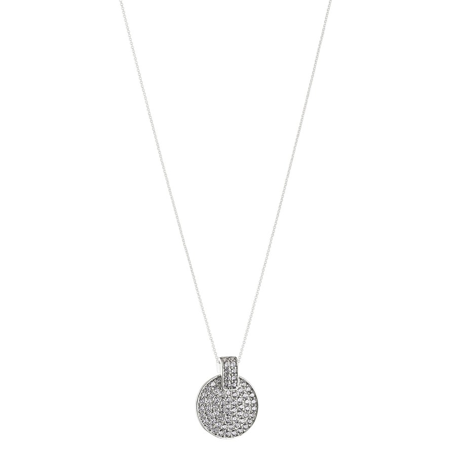 Snö of Sweden Carrie Pendant Neck Silver/Clear 80cm