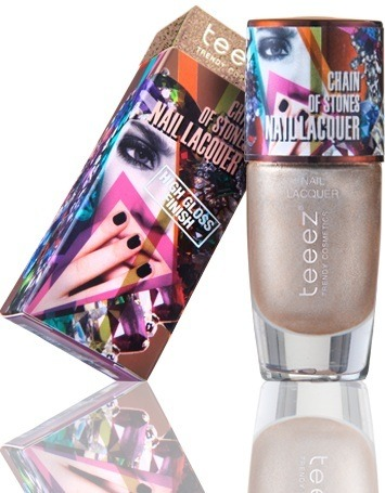 Teeez Trend Cosmetics Desert Glow Collection Chain of Stones Nail Lacquer Pretty In Pyrite