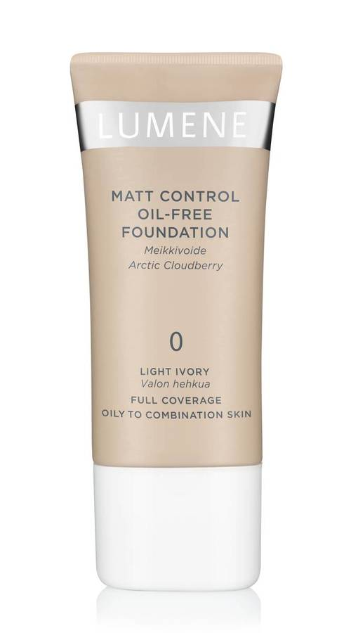 Lumene Mat Control Oil-Free Foundation 0 Light Ivory 30ml