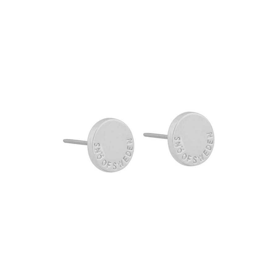 Snö Of Sweden Remy Small Earring Round Plain Silver 8mm