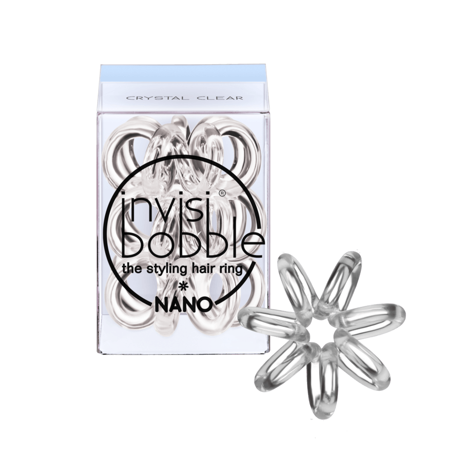 Invisibobble Nano 3 Styling Hair Rings Crystal Clear