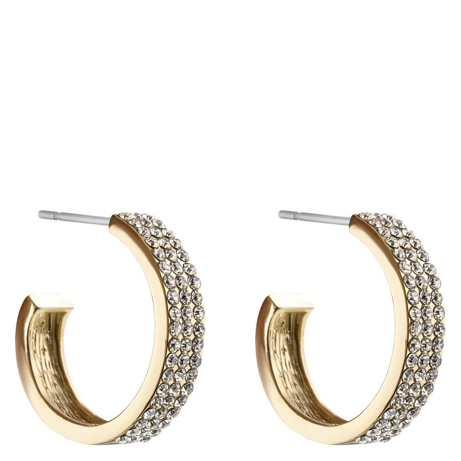 Snö of Sweden Carrie Earring Gold/Clear 21mm