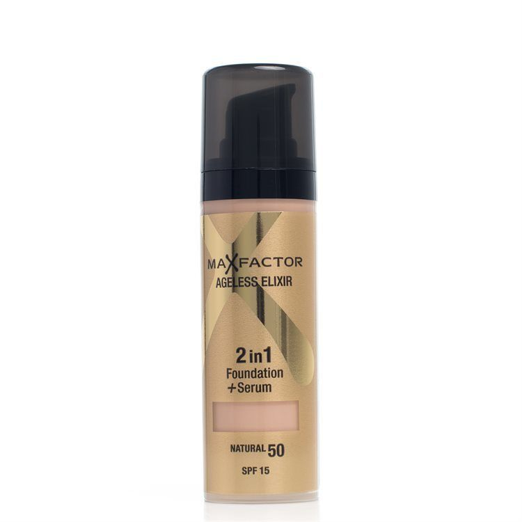 Max Factor Ageless Elixir 2-In-1 Foundation + Serum Spf15 Natural 50 30ml