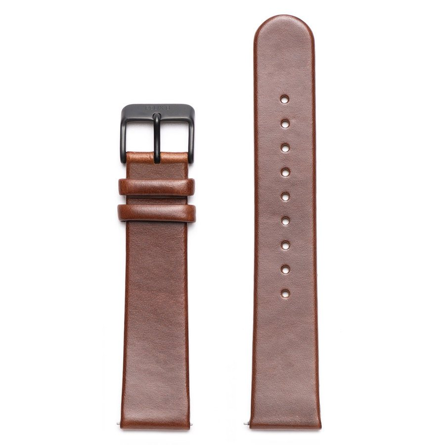 Felix B Leather Strap - Brown/Black