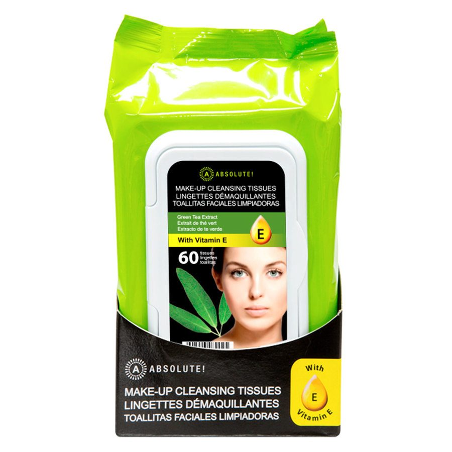 Absolute New York Make-Up Cleansing Tissues Green Tea Extract 60pcs
