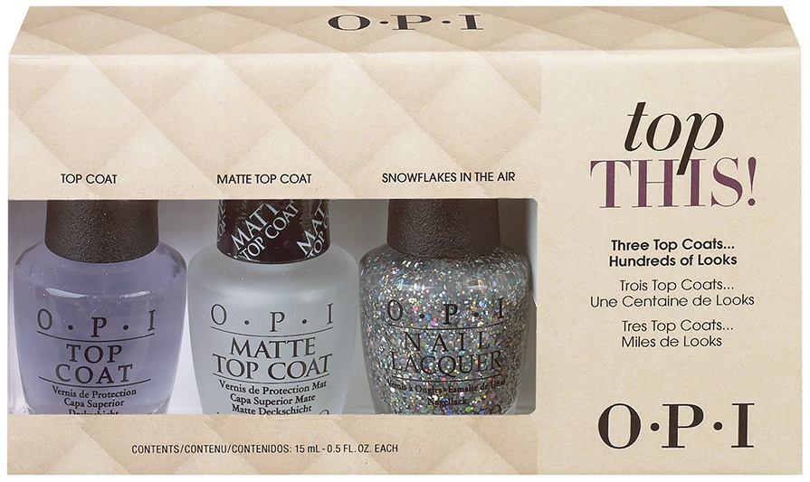 OPI Mariah Carey Holiday Collection – Top This! Top Coat Kit 3x15ml