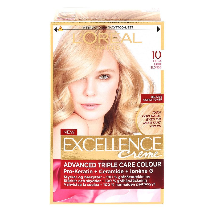 L'Oréal Paris Excellence Creme 10 Ekstra lys blond