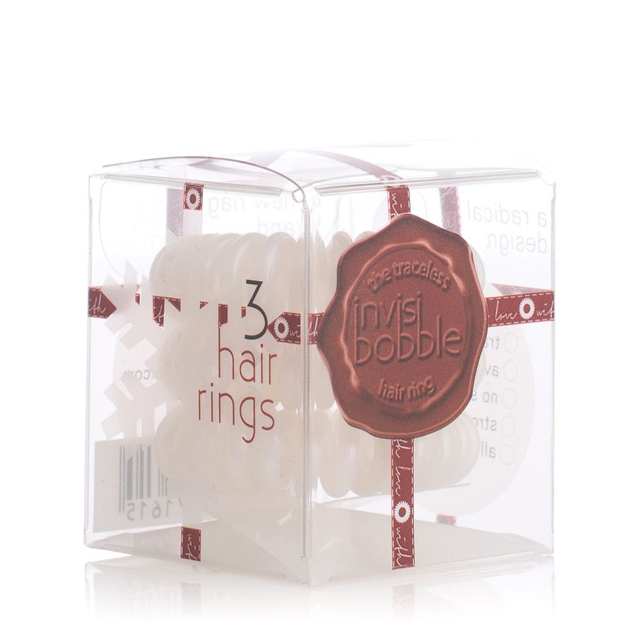 Invisibobble Snow Pearl Hair Rings White Pearl 3stk