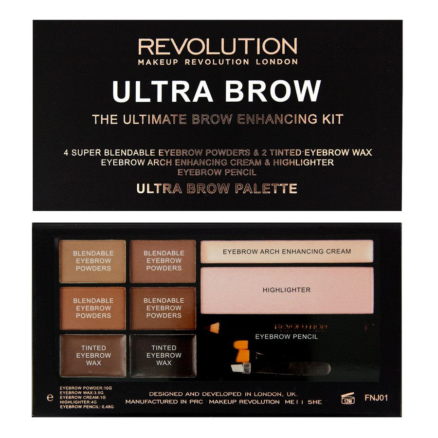 Makeup Revolution Ultra Brow -Medium to Dark 19g