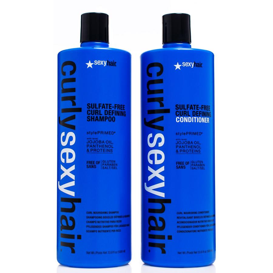 Curly Sexy Hair  Shampoo og Balsam 2 x 1000ml (Duo)