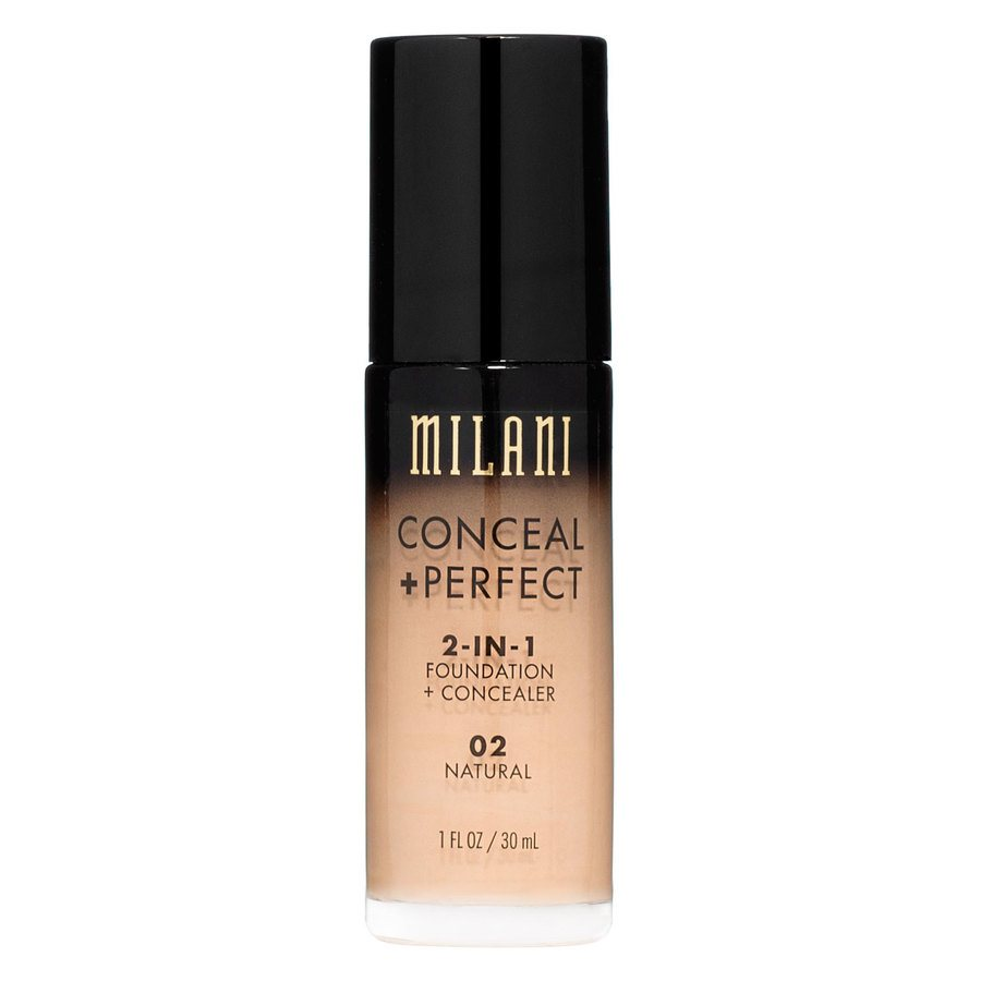 Milani Conceal & Perfect 2 In 1 Foundation + Concealer Natural 30ml