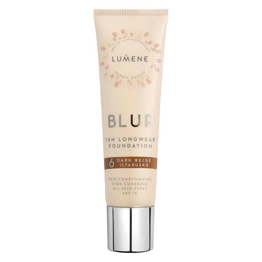 Lumene Blur 16H Longwear Foundation #6 Dark Beige SPF15 30ml