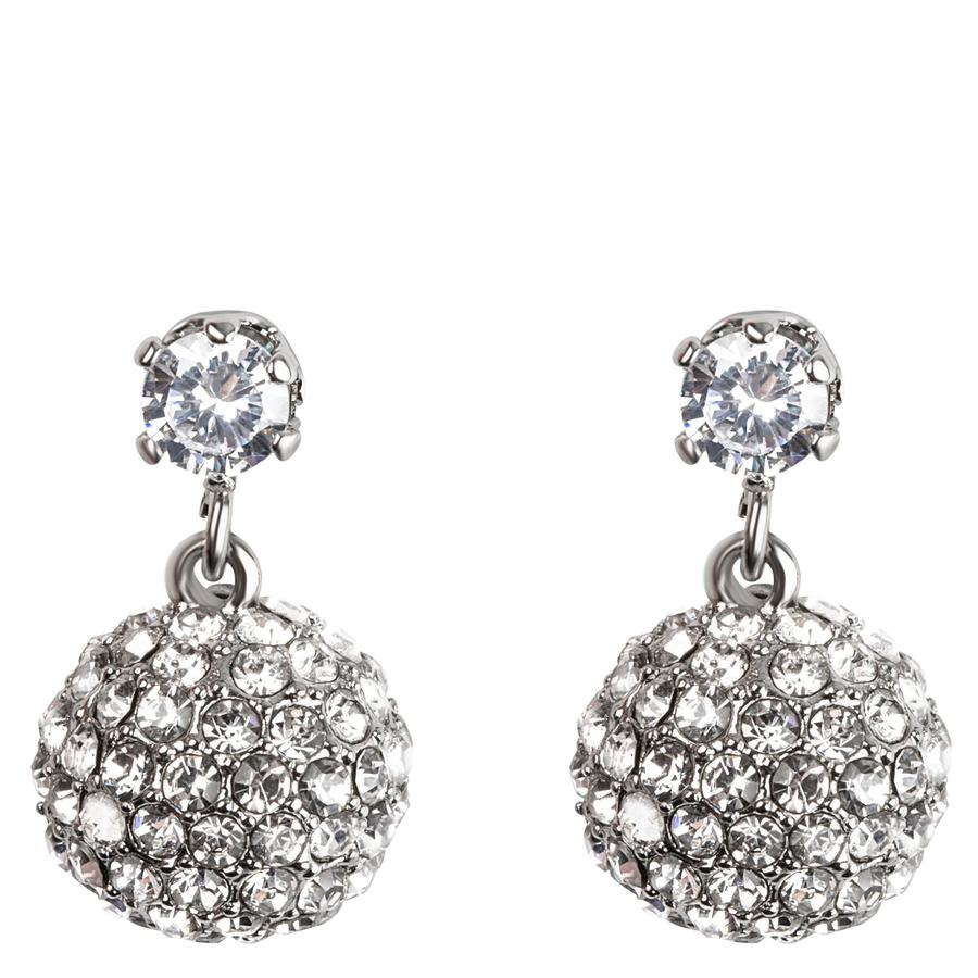 Snö of Sweden Fair Small Pendant Earring Silver/Clear 18mm