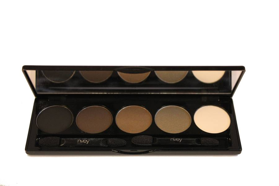 Nvey ECO Eye Shadow Palette 5 Colour Collection N° 8 Precious Sugar Cake (Black & Brown Cake Eyeliner, 158, 162, 175) 7,5g
