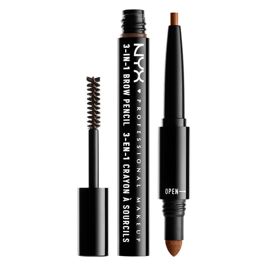NYX Professional Makeup 3-In-1 Brow Pencil Auburn
