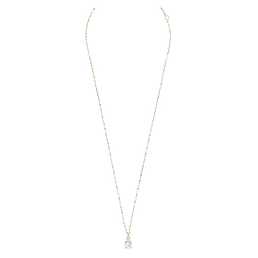 Snö Of Sweden Duo Pendant Necklace 42cm  Gold/Clear