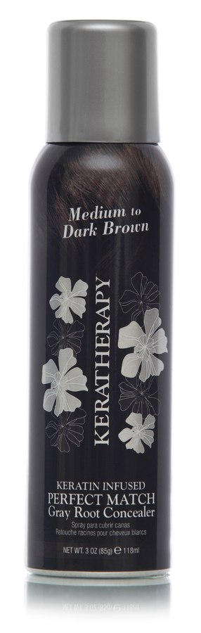 Keratherapy Keratin Infused Perfect Match Gray Root Concealer Medium/Dark Brown 118ml