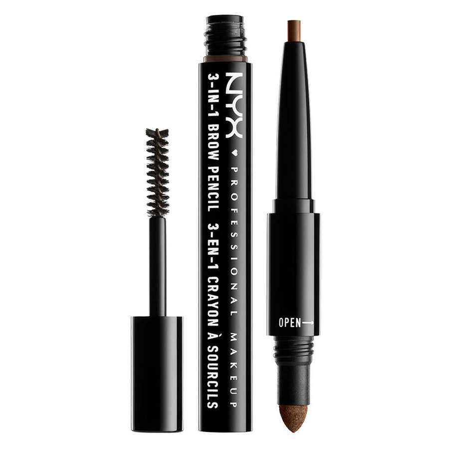NYX Professional Makeup 3-In-1 Brow Pencil Soft Brown