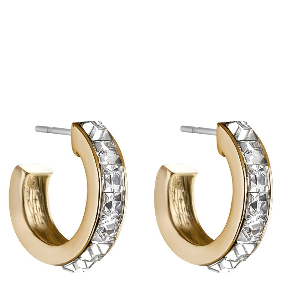 Snö of Sweden Trio Small Earring Gold/Clear 17mm