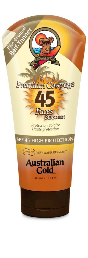 Australian Gold Premium Coverage Faces With Bronzer SPF 45 88ml