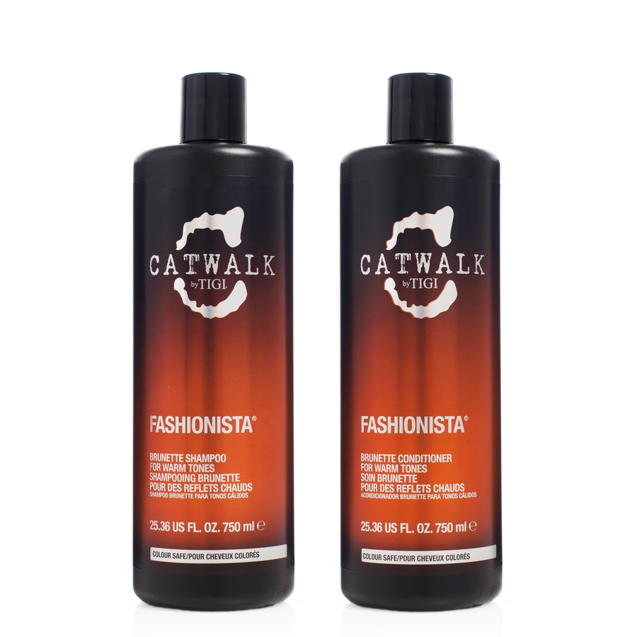 Tigi Catwalk Fashionista Brunette Shampoo & Conditioner Duo 2x750ml