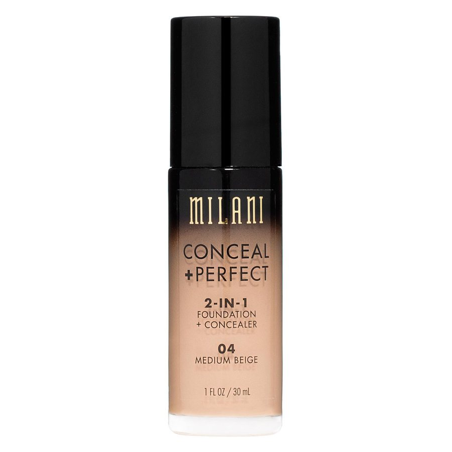 Milani Conceal & Perfect 2 In 1 Foundation + Concealer Medium Beige 30ml