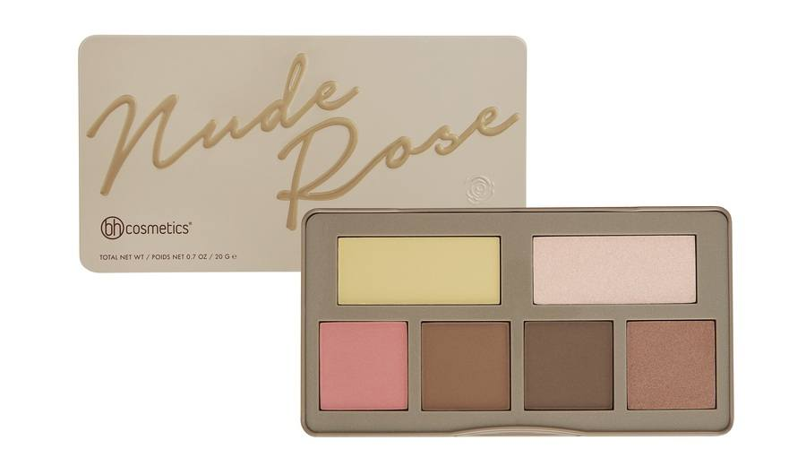 bh Cosmetics Nude Rose Sculpt & Glow Palette 20g