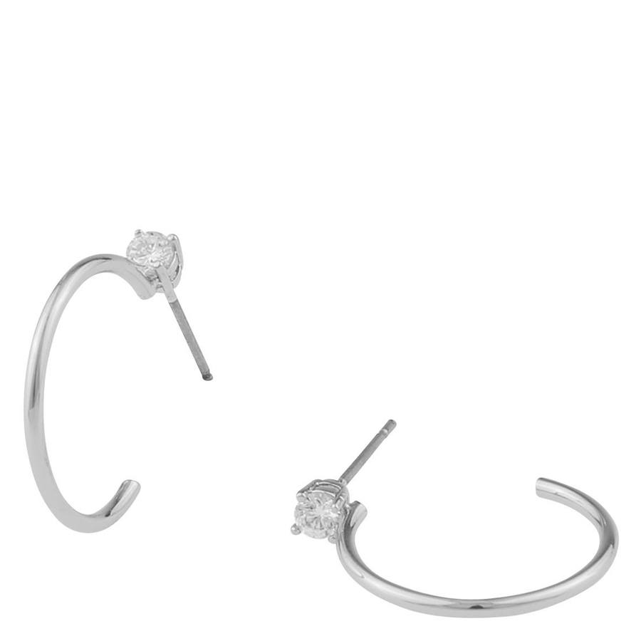 Snö Of Sweden Duo Ring Earring Silver/Clear