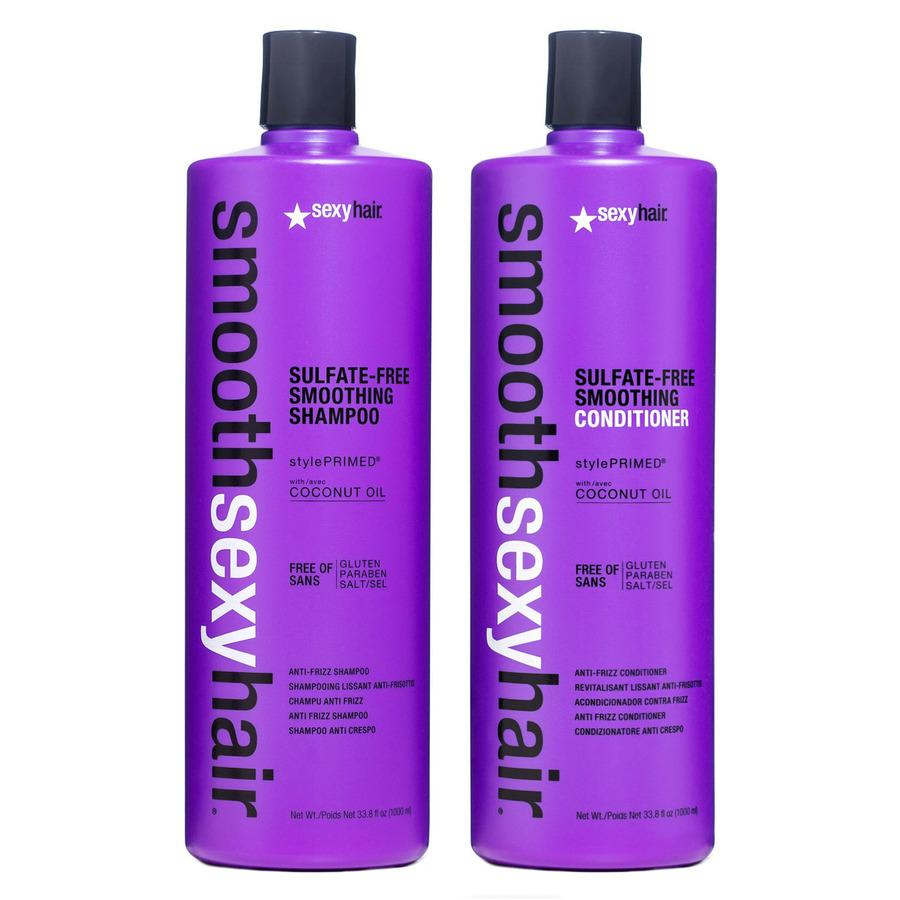 Sexy Hair Smooth Shampoo & Conditioner 2x 1000ml (Duo)